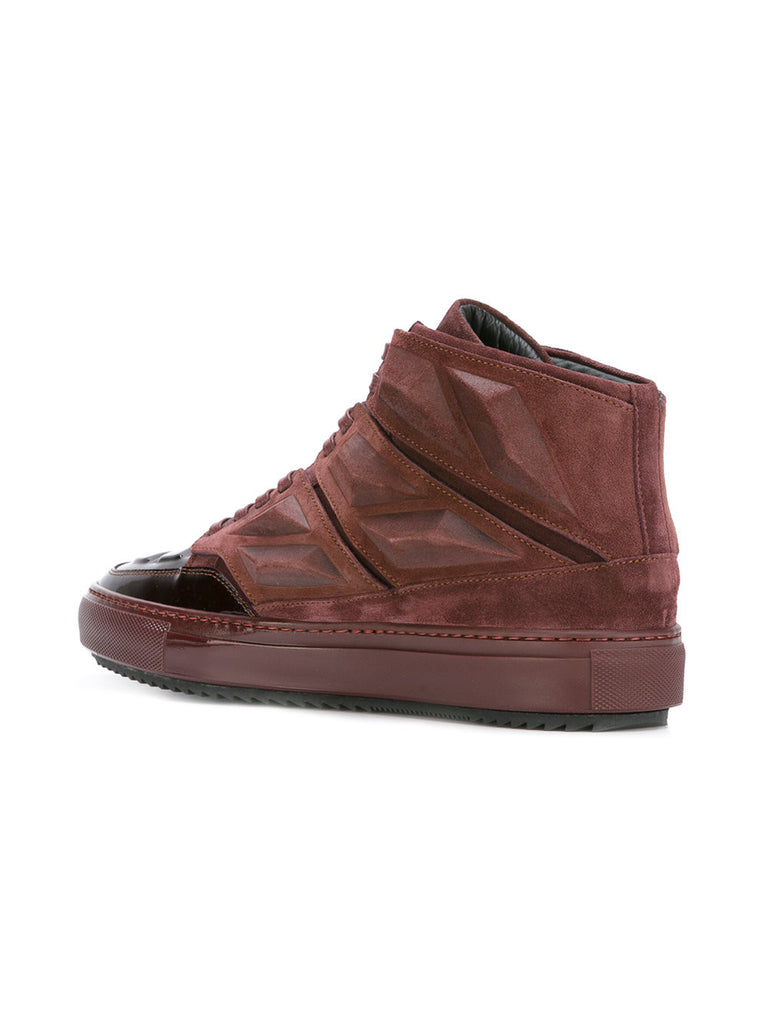 Wine panelled hi-tops