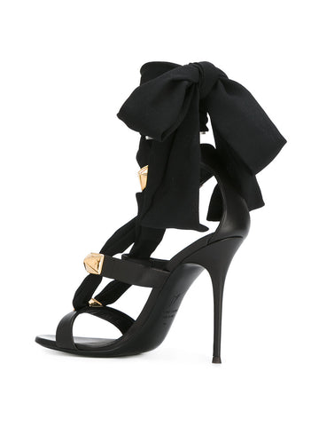 Black ribbon stiletto sandals from Giuseppe Zanotti