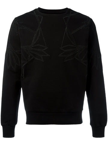 Black geometric print sweatshirt from Les Hommes