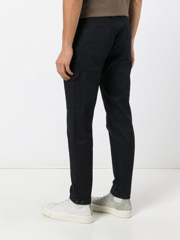 BLACK STRAIGHT PANTS WITH POCKETS FROM LES HOMMES