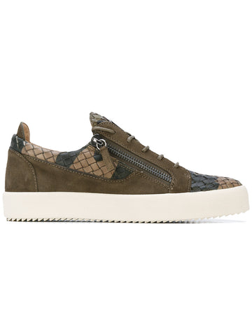 LOW CUT SNEAKER GREEN AND BEIGE FROM GIUSEPPE ZANOTTI