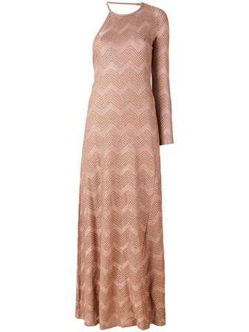 COBBER METALLIC LONG ONE SLEEVE DRESS FROM M MISSONI