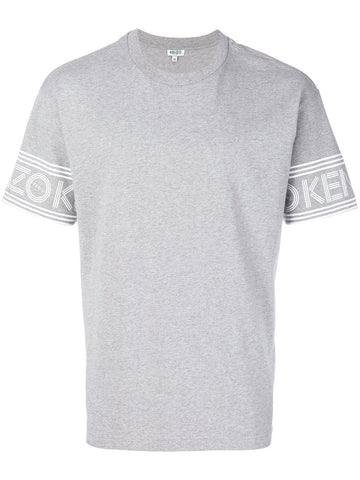 GREY TSHIRT WITH WHITE LOGO LETTERS ON THE SLEEVES FROM KENZO