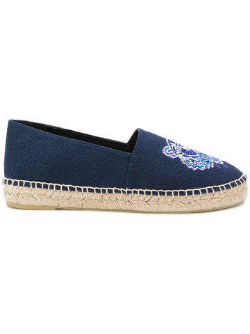 BLUE ESPADRILLES IN CANVAS WITH PURPLE TIGER FROM KENZO
