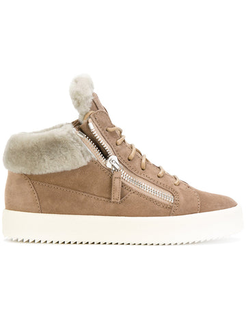 Kriss fur trim sneakers from Giuseppe Zanotti