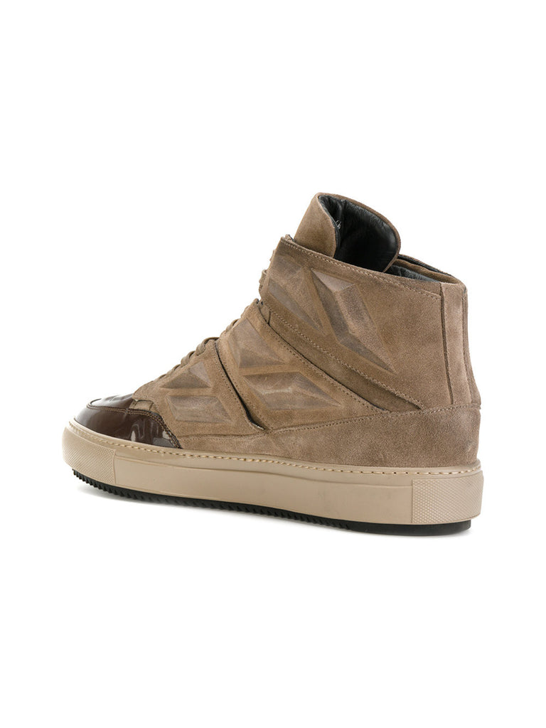 CAMEL MIDHIGH SUEDE SNEAKER WITH PATENT FROM Alejandro ingelmo