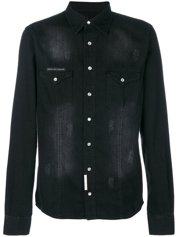 BLACK JEANS SHIRT FROM PHILIPP PLEIN