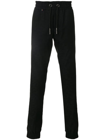 BLACK TRACKPANTS WITH BLACK PATTERN FROM PHILIPP PLEIN