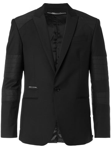 BLACK BLAZER WITH STICHES ON THE SLEEVES FROM PHILIPP PLEIN