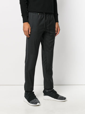 DARK GREY WOOL PANTS FROM PHILIPP PLEIN