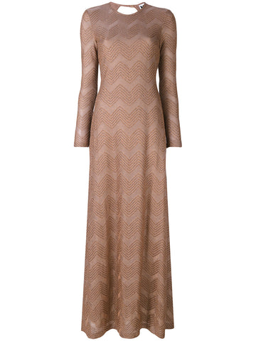 LONG bronce metallic dress from M MISSONI