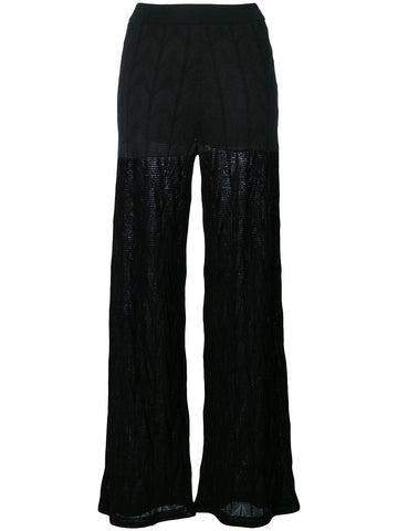 BLACK KNIT PANTS FROM M MISSONI