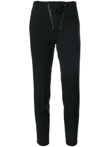 BLACK PANTS WITH LACE UP ON THE FRONT FROM THE KOOPLES