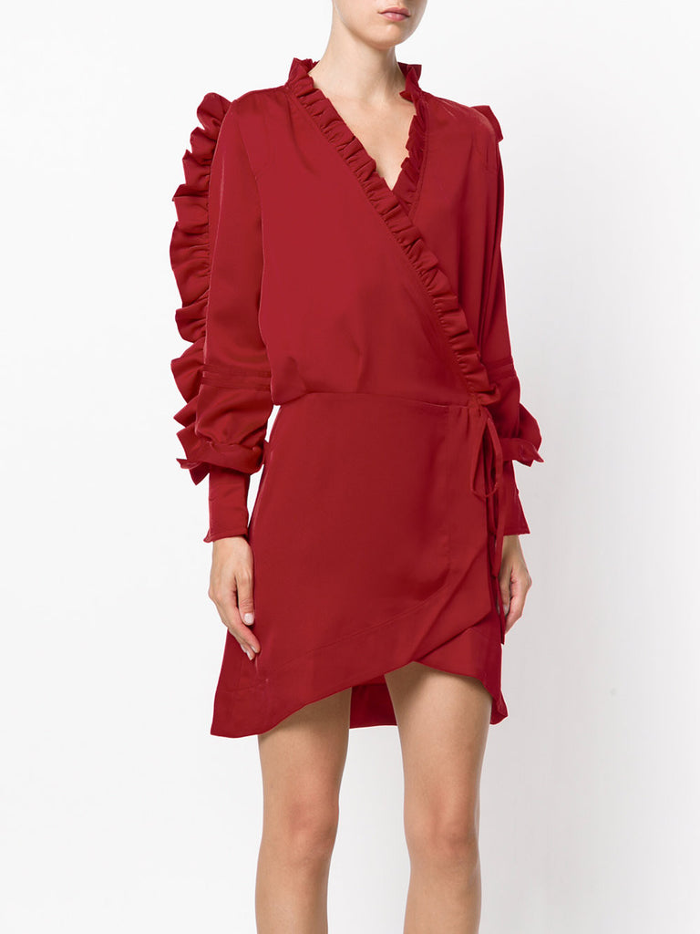 Red ruffle dress from iiL7
