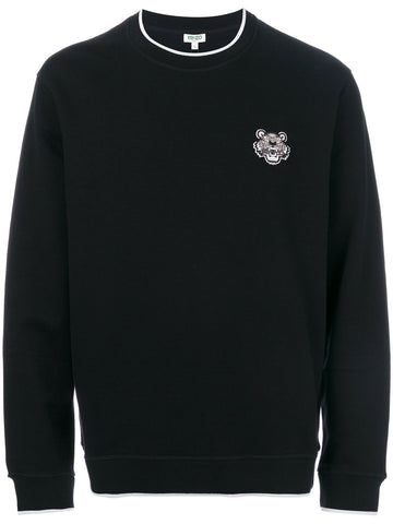 BLACK SWEAT SHIRT WITH SMALL TIGER FROM KENZO