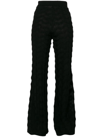 Flared wool blend trousers from Missoni