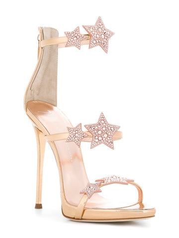 GOLD STILETTO WITH ROSE GOLD STARS FROM GIUSEPPE ZANOTTI