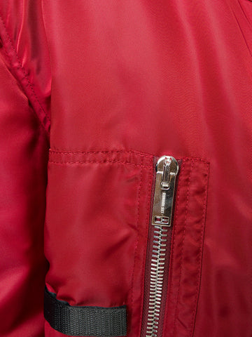 Red pilot bomber jacket