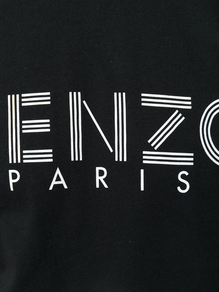 black tshirt with white logo letters from kenzo