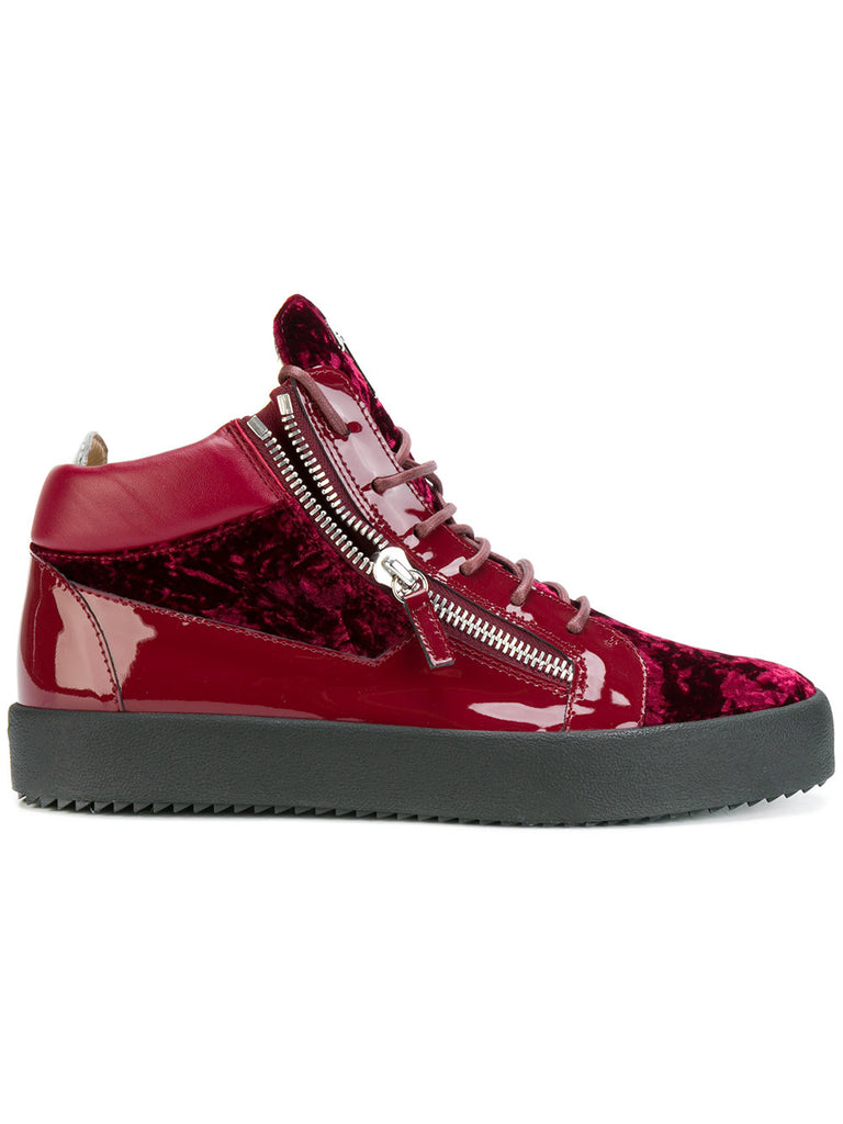 Mid-high velvet sneakers from Giuseppe Zanotti