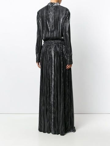BLACK LONG DRESS WITH SILVER FROM PIERRE BALMAIN