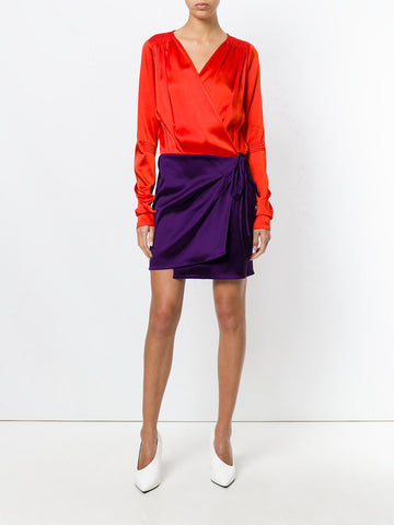 RED AND PURPLE SHORT DRESS FROM ATTICO