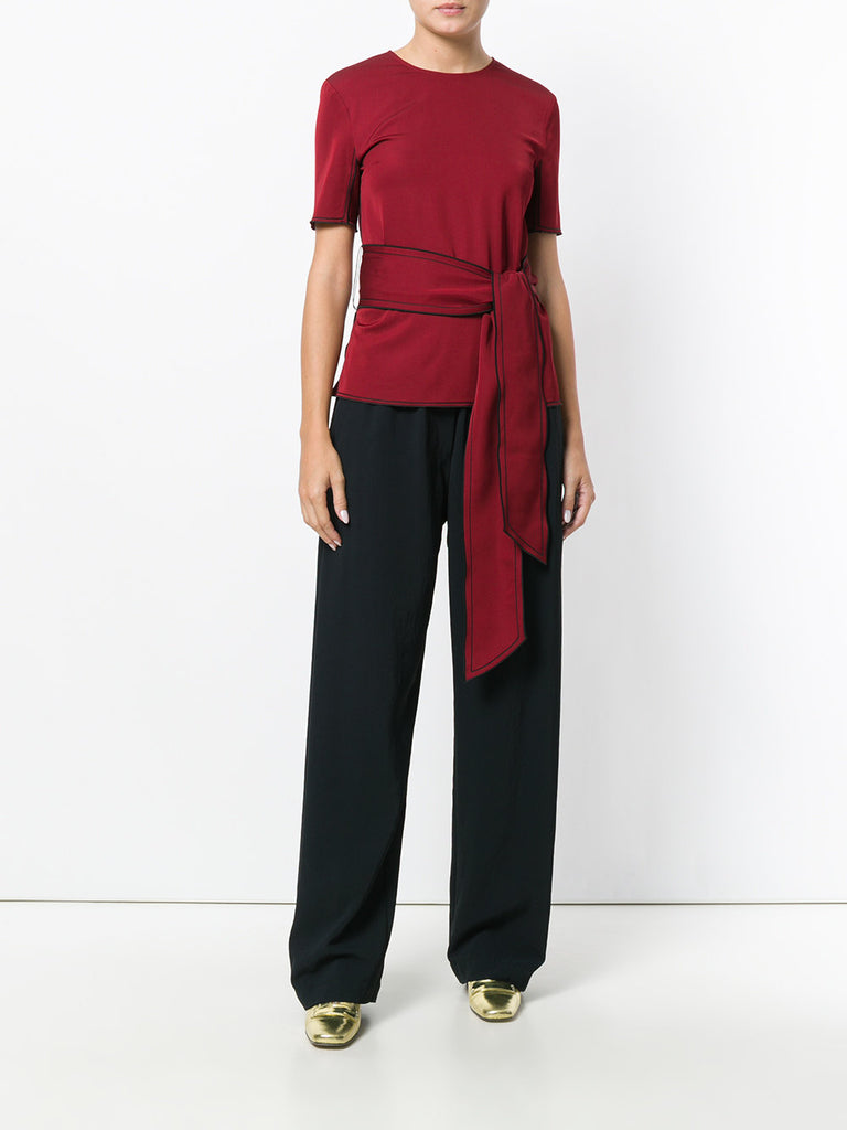 WINE BLOUSE WITH TIE BAND FROM VICTORIA VICTORIA BECKHAM