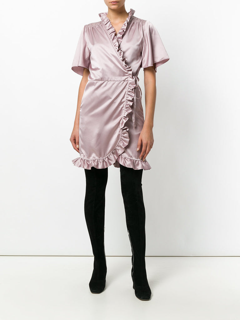 CHAMPAGNE DRESS FROM iiL7 with ruffles