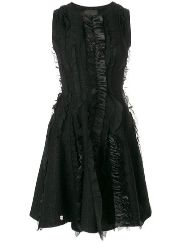 black dress with black lace  from philipp plein