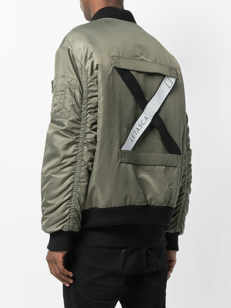 GREEN BOMBER WITH WHITE CROSS BAND FROM LETASCA