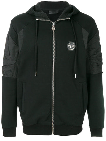 BLACK SWEAT HOODIE FROM PHILIPP PLEIN