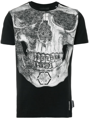 BLACK TSHIRT WITH SCULL PRINT FROM PHILIPP PLEIN