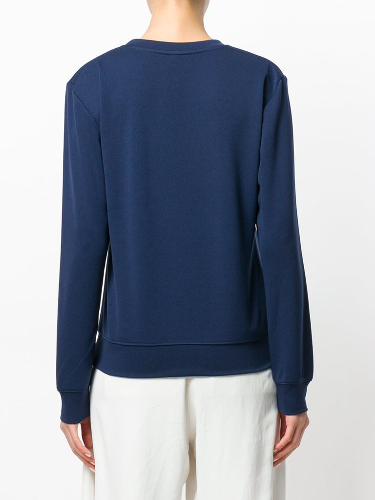navy sweat bloues with crystal from area