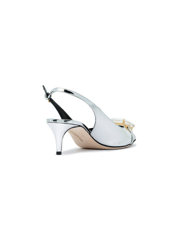 Low silver pump from Marco de  Vincenzo