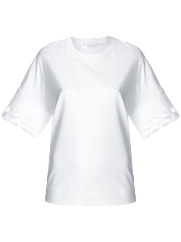 WHITE TSHIRT BLOUSE WITH SATIN BAND FROM VICTORIA VICTORIA BECKHAM