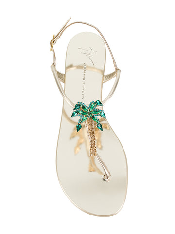 SANDAL WITH GOLD PALM TREE FROM GIUSEPPE ZANOTTI