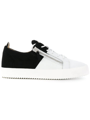WHITE AND BLACK SNEAKER FROM GIUSEPPE ZANOTTI