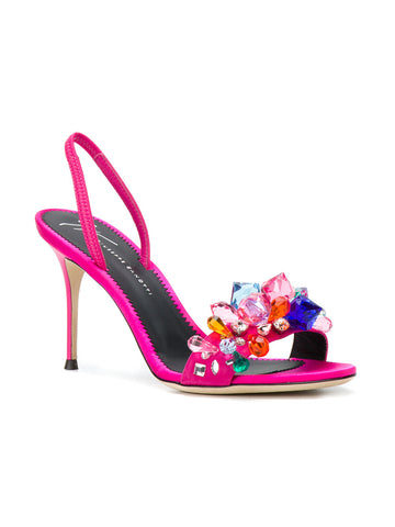 PINK STILET WITH MULTI STONES FROM GIUSEPPE ZANOTTI