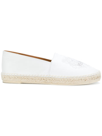 WHITE LEATHER ESPADRILLES WITH  TIGER EMBRODERY FROM KENZO