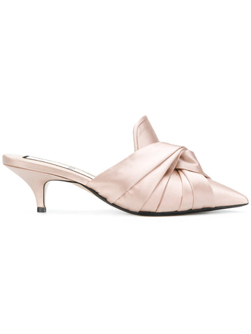 NUDE LOW HEEL SILK STILETTO FROM Nº21