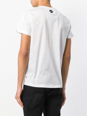 WHITE TSHIRT WITH POCKET FROM PHILIPP PLEIN