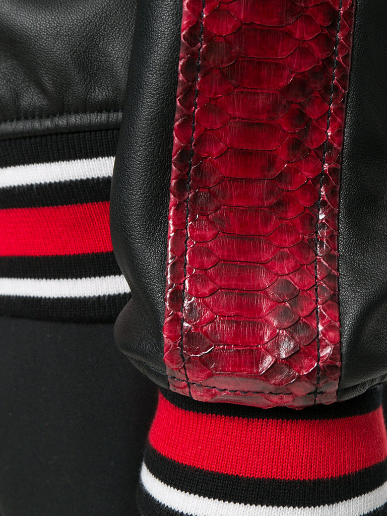 BLACK LEATHER JACKET WITH PHYTON FROM PHILIPP PLEIN