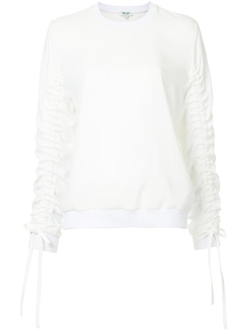 WHITE WRINKLED BLOUSE FROM KENZO