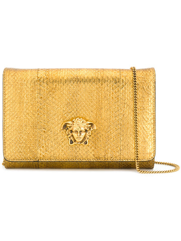 GOLD CLUTCH WITH GOLD LOGO FROM VERSACE