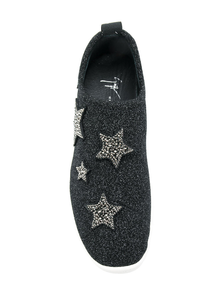 RUNNER IN BLACK WITH STRECH AND STARS FROM GIUSEPPE ZANOTTI