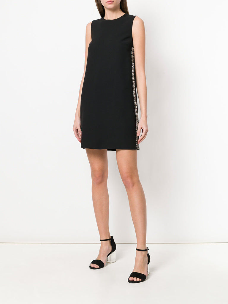 BLACK DRESS WITH SIDE PANEL OF CRYSTAL FROM VICTORIA BECKHAM