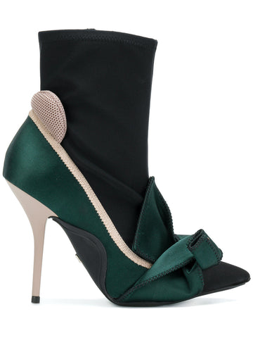 BLACK STILETTO BOOT WITH GREEN DETAIL MINNIE FROM Nº21
