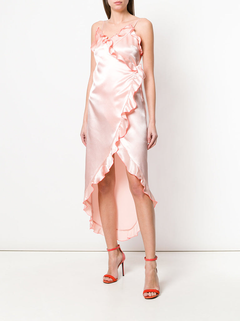 Peach ruffle dress from Area