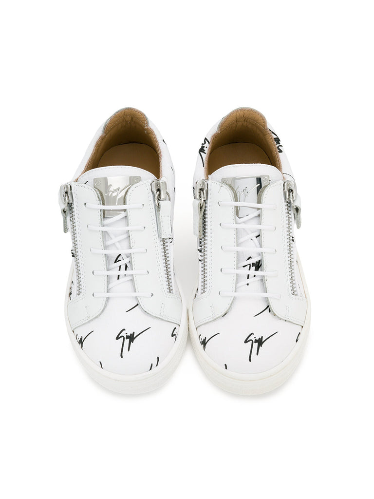 WHITE LOW LOGO CHILDREN SNEAKERS FROM GIUSEPPE ZANOTTI