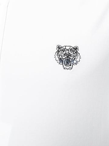 WHITE CASUAL FIT SHIRT WITH SMALL TIGER FROM KENZO